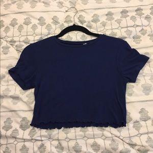 Pacsun blue crop top. Size xs